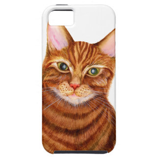 Ginger Cat Watercolour Artwork Painting iPhone 5 Cases