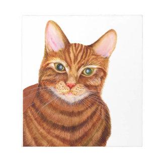 Ginger Cat Watercolour Artwork Painting Notepad