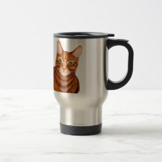 Ginger Cat Watercolour Artwork Painting Travel Mug