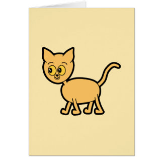 Ginger Cat with Amber Color Eyes. Card