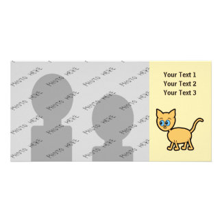 Ginger Cat with Blue Eyes. Card