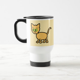 Ginger Cat with Green Eyes Coffee Mugs
