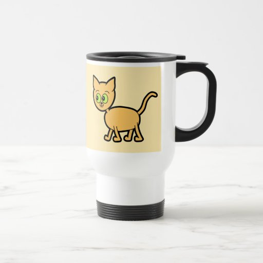 Ginger Cat with Green Eyes. Coffee Mugs
