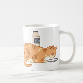 Ginger Cat with Milk Saucer Mug