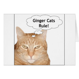 Ginger Cats Rule! Card