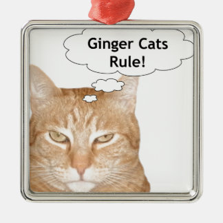 Ginger Cats Rule Christmas Ornament