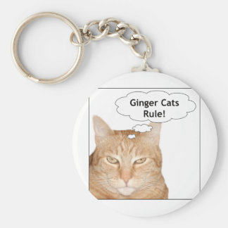 Ginger Cats Rule! Key Ring