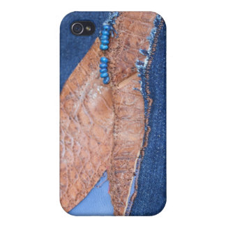 Ginger Che Leather and Denim iPhone 4 Case