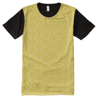 Ginger Fish Scales All-Over Print T-Shirt