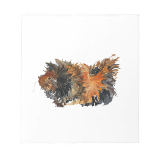 Ginger Fluffy Guinea Pig Watercolour Painting Notepad
