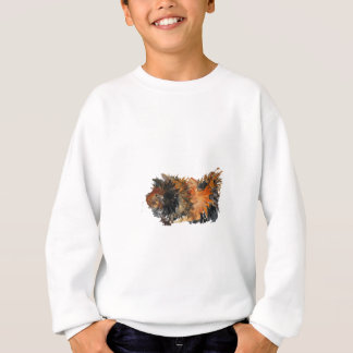 Ginger Fluffy Guinea Pig Watercolour Painting Sweatshirt
