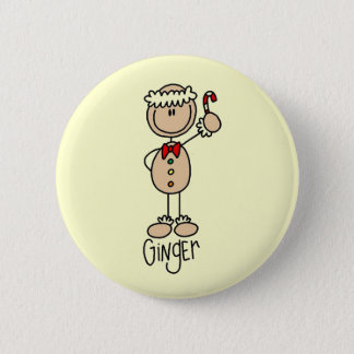 Ginger Gingerbread Cookie Tshirts and Gifts 6 Cm Round Badge