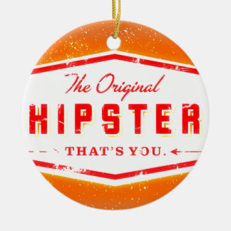 GINGER HIPSTER STYLE CHRISTMAS ORNAMENT