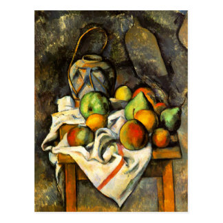 Ginger Jar and Fruit by Cezanne Postcard