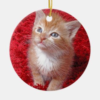 Ginger Kitten Christmas Ornament