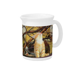Ginger Kitten Painting Pitcher