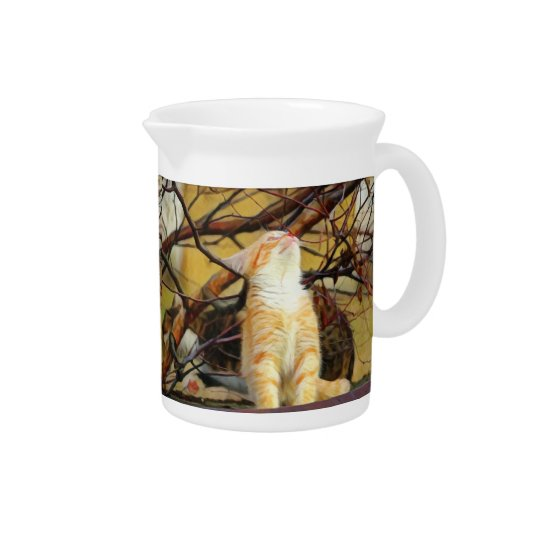Ginger Kitten Painting Pitcher