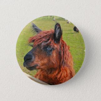 Ginger Llama 6 Cm Round Badge
