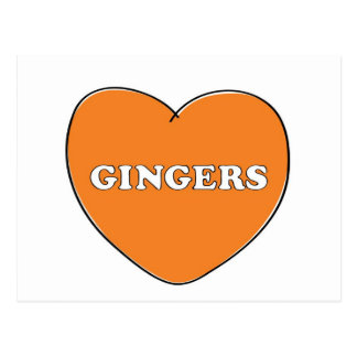 Ginger Love Postcard