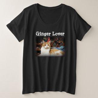 Ginger Lover Women's plus size cat photo tshirt
