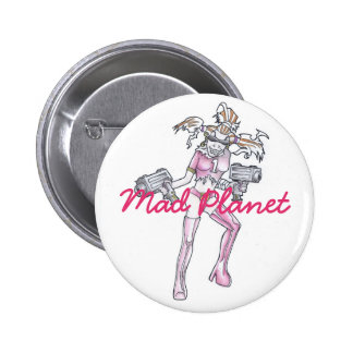 Ginger Mania Drawing 6 Cm Round Badge