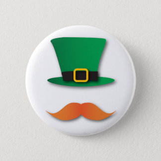 Ginger Mustache Leprechaun Cute St. Patrick's Day 6 Cm Round Badge