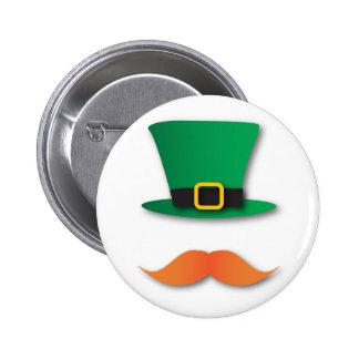 Ginger Mustache Leprechaun Cute St. Patrick's Day 6 Cm Round Badge