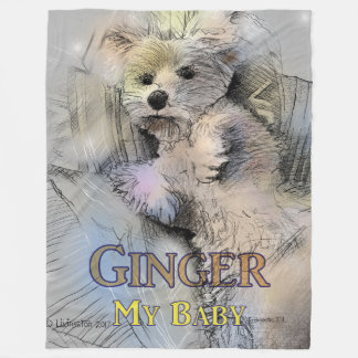 Ginger My Baby Fleece Blanket