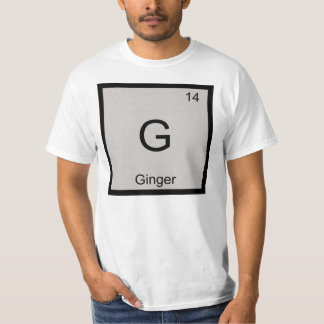 Ginger Name Chemistry Element Periodic Table T-shirt