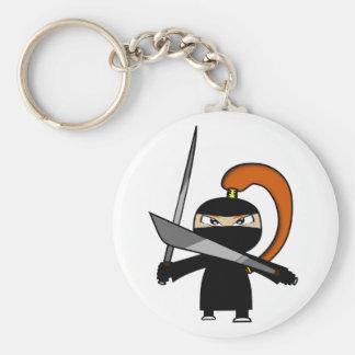 Ginger Ninja Figure 3 Basic Round Button Key Ring