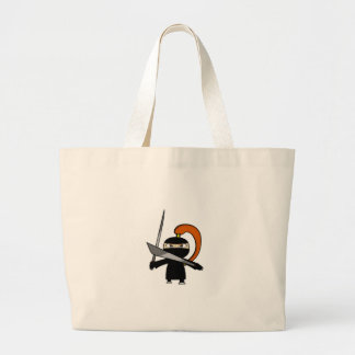 Ginger Ninja Figure 3 Large Tote Bag