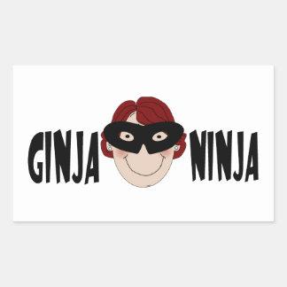Ginger Ninja Rectangular Sticker