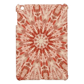 Ginger Peach Doily Kaleidoscope Cover For The iPad Mini