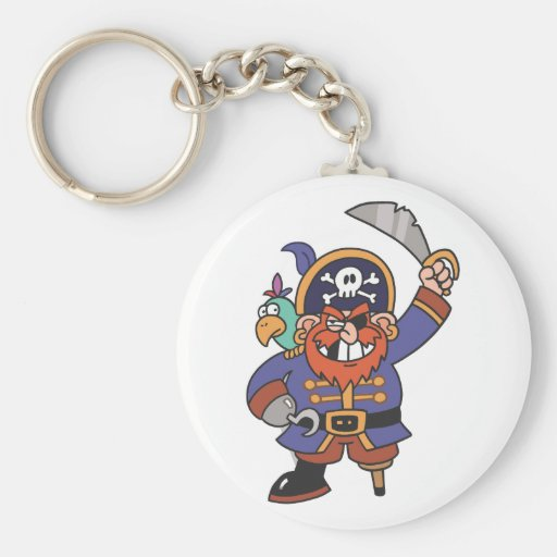 Ginger pirate with Parrot Key Chain