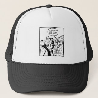 Ginger Scientist Monkey Trucker Hat