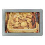 Ginger Snap Cookies in Basket Rectangular Belt Buckle