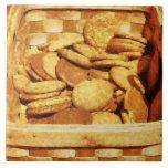 Ginger Snap Cookies in Basket Ceramic Tile