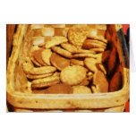 Ginger Snap Cookies in Basket Greeting Card