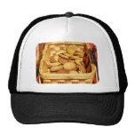Ginger Snap Cookies in Basket Mesh Hat