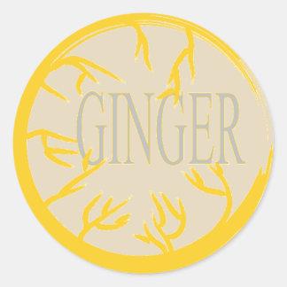 GINGER 'SPICE JAR' CIRCLE STICKER