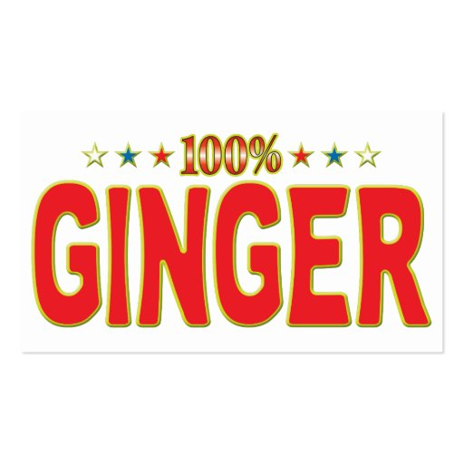 Ginger Star Tag Business Cards