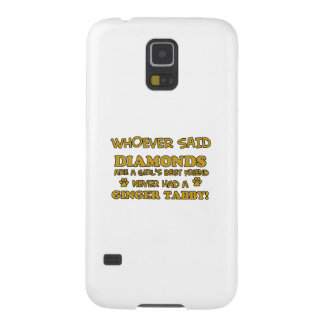 Ginger Tabby Cat designs Case For Galaxy S5