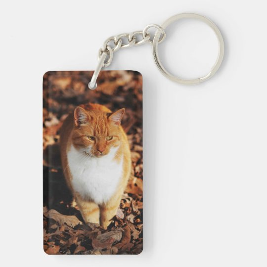 Ginger Tabby Cat Key Chain