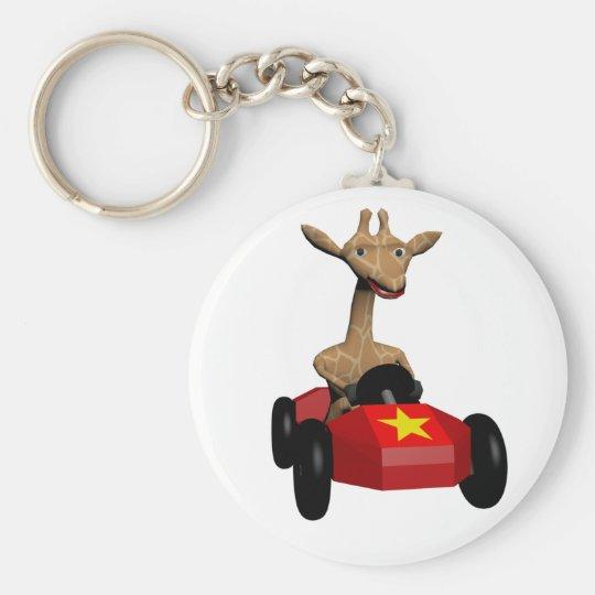 Ginger the Giraffe racing Key Ring