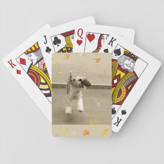 Ginger Wire Fox Terrier Playing Cards