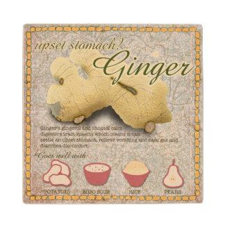 Ginger Wooden Coaster