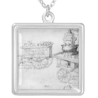 Gingerbeer and Hot Elder Wine stalls in Silver Plated Necklace