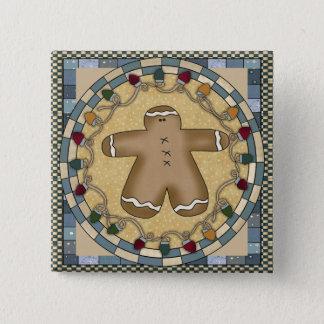 Gingerbread 15 Cm Square Badge