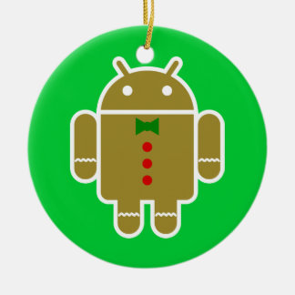 Gingerbread Android Christmas Ornament