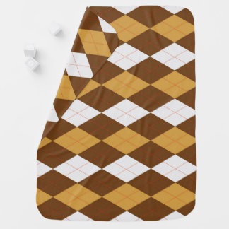 GingerBread Argyle Baby Blanket
